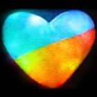"""Светящаяся подушка в форме сердца """"Патриот"""""""