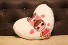 Светящаяся подушка LOL SURPRISE (белое сердце)